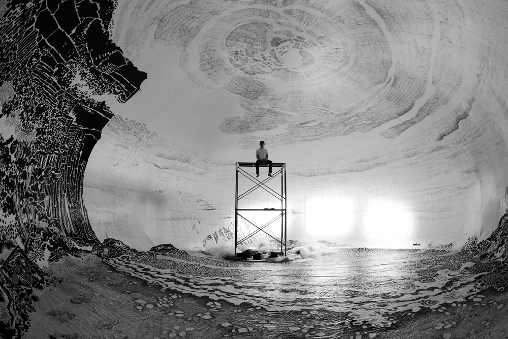 Oscar Oiwa |Panoramic 360° Drawings